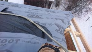 We decided to install underlayment and framing simultaneously 1