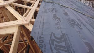 we decided to install underlayment and framing simultaneously 2