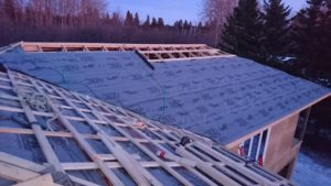 we decided to install underlayment and framing simultaneously 3