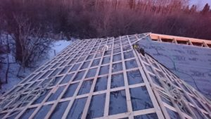 we decided to install underlayment and framing simultaneously 4