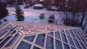 we decided to install underlayment and framing simultaneously 5