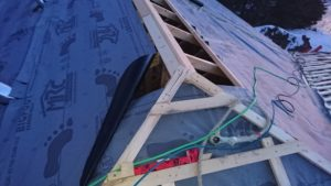 we decided to install underlayment and framing simultaneously 6
