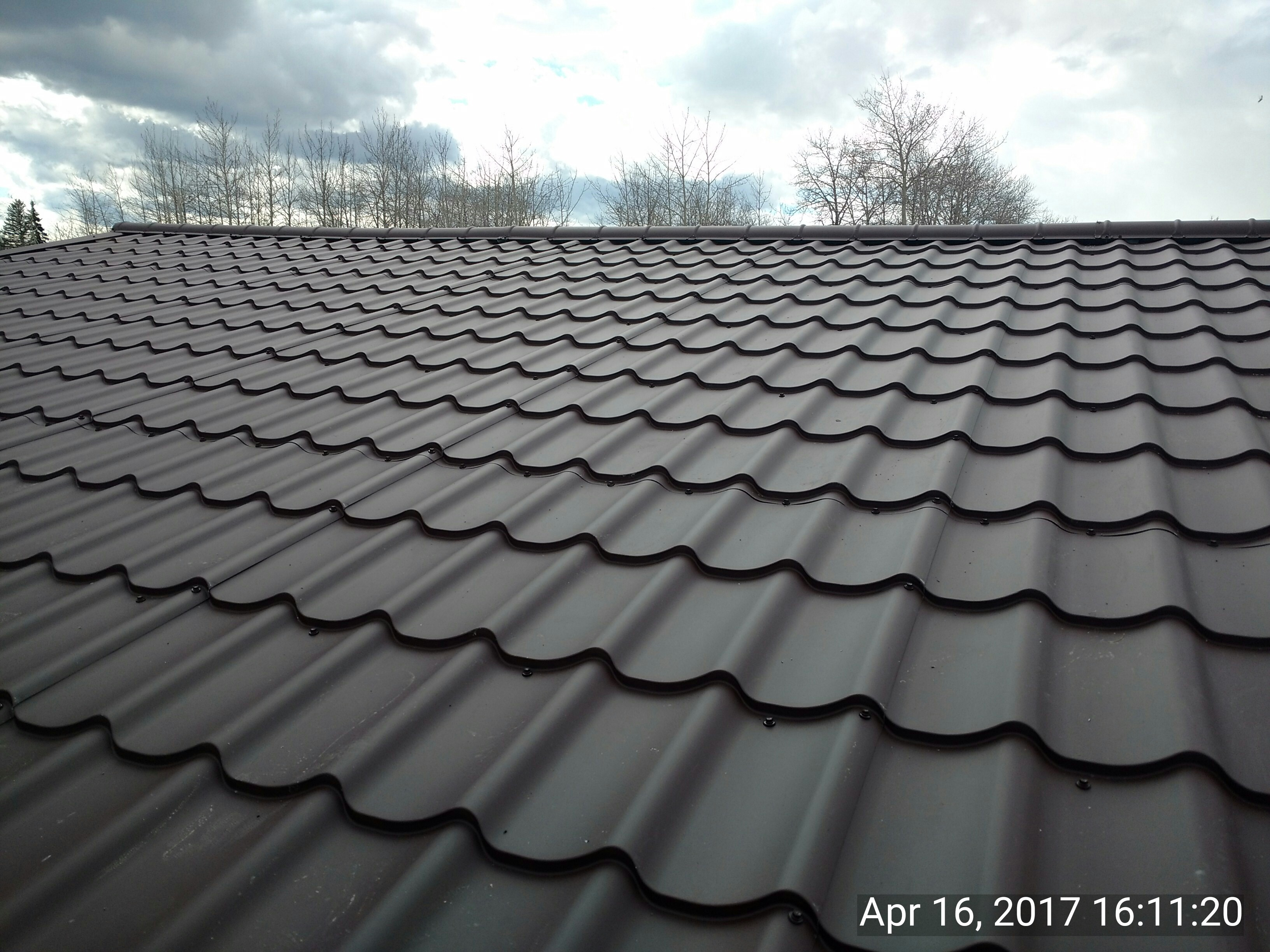 steel tile brown